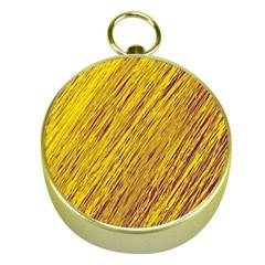 Yellow Van Gogh pattern Gold Compasses