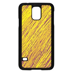 Yellow Van Gogh pattern Samsung Galaxy S5 Case (Black)