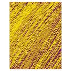 Yellow Van Gogh pattern Drawstring Bag (Large)