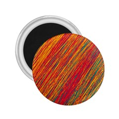 Orange Van Gogh pattern 2.25  Magnets