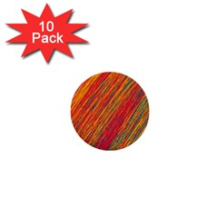 Orange Van Gogh pattern 1  Mini Buttons (10 pack)