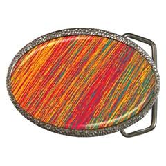 Orange Van Gogh pattern Belt Buckles