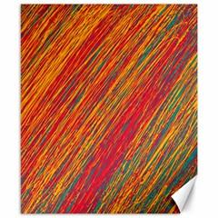 Orange Van Gogh pattern Canvas 8  x 10