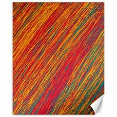 Orange Van Gogh pattern Canvas 11  x 14