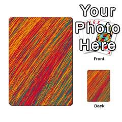 Orange Van Gogh pattern Multi-purpose Cards (Rectangle)