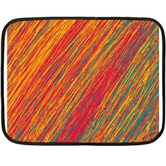 Orange Van Gogh pattern Fleece Blanket (Mini)