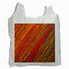 Orange Van Gogh pattern Recycle Bag (One Side)