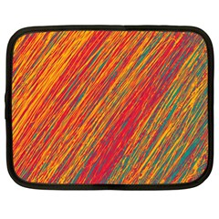 Orange Van Gogh pattern Netbook Case (XL)