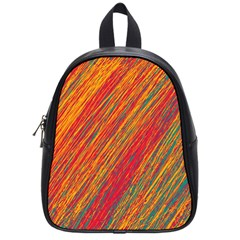 Orange Van Gogh pattern School Bags (Small)
