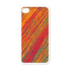 Orange Van Gogh pattern Apple iPhone 4 Case (White)