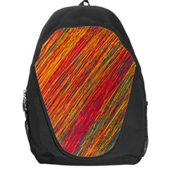 Orange Van Gogh pattern Backpack Bag