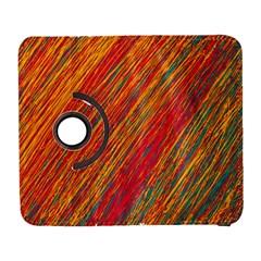 Orange Van Gogh pattern Samsung Galaxy S  III Flip 360 Case