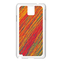 Orange Van Gogh pattern Samsung Galaxy Note 3 N9005 Case (White)