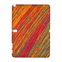 Orange Van Gogh pattern Samsung Galaxy Note 10.1 (P600) Hardshell Case