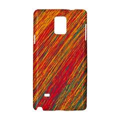 Orange Van Gogh pattern Samsung Galaxy Note 4 Hardshell Case