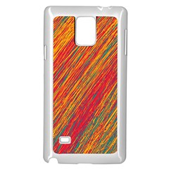 Orange Van Gogh pattern Samsung Galaxy Note 4 Case (White)