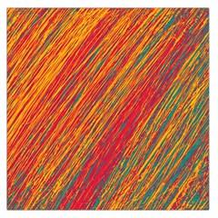 Orange Van Gogh pattern Large Satin Scarf (Square)