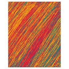Orange Van Gogh pattern Drawstring Bag (Small)