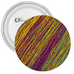 Yellow, purple and green Van Gogh pattern 3  Buttons