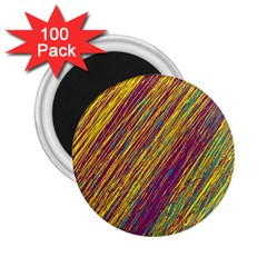 Yellow, purple and green Van Gogh pattern 2.25  Magnets (100 pack)