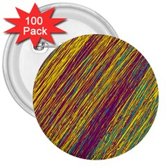 Yellow, purple and green Van Gogh pattern 3  Buttons (100 pack)