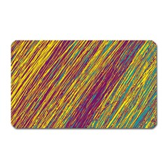 Yellow, purple and green Van Gogh pattern Magnet (Rectangular)