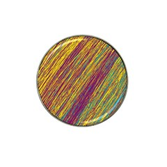 Yellow, purple and green Van Gogh pattern Hat Clip Ball Marker (10 pack)
