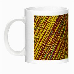 Yellow, purple and green Van Gogh pattern Night Luminous Mugs