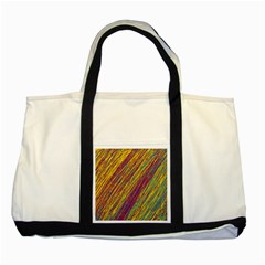 Yellow, purple and green Van Gogh pattern Two Tone Tote Bag