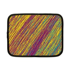 Yellow, purple and green Van Gogh pattern Netbook Case (Small)