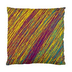 Yellow, purple and green Van Gogh pattern Standard Cushion Case (One Side)