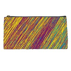Yellow, purple and green Van Gogh pattern Pencil Cases