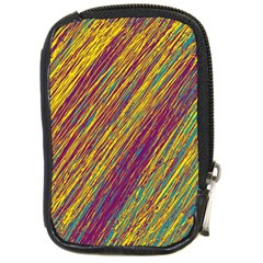 Yellow, purple and green Van Gogh pattern Compact Camera Cases