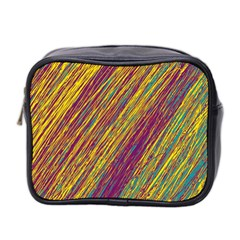 Yellow, purple and green Van Gogh pattern Mini Toiletries Bag 2-Side