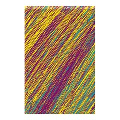 Yellow, purple and green Van Gogh pattern Shower Curtain 48  x 72  (Small)