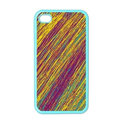 Yellow, purple and green Van Gogh pattern Apple iPhone 4 Case (Color)
