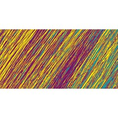 Yellow, purple and green Van Gogh pattern YOU ARE INVITED 3D Greeting Card (8x4)