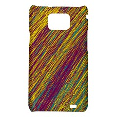 Yellow, purple and green Van Gogh pattern Samsung Galaxy S2 i9100 Hardshell Case