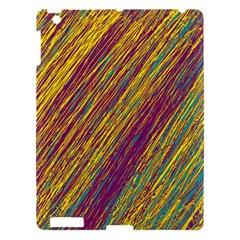 Yellow, purple and green Van Gogh pattern Apple iPad 3/4 Hardshell Case