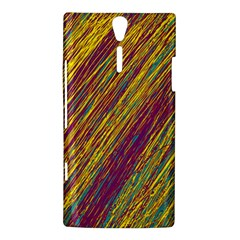 Yellow, purple and green Van Gogh pattern Sony Xperia S