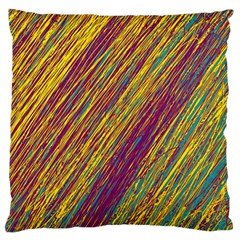 Yellow, purple and green Van Gogh pattern Large Cushion Case (Two Sides)