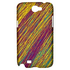 Yellow, purple and green Van Gogh pattern Samsung Galaxy Note 2 Hardshell Case