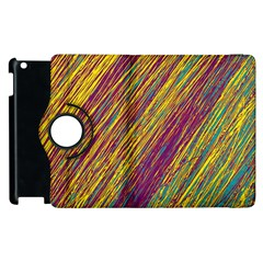 Yellow, purple and green Van Gogh pattern Apple iPad 2 Flip 360 Case