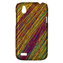 Yellow, purple and green Van Gogh pattern HTC Desire V (T328W) Hardshell Case