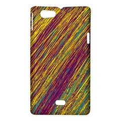 Yellow, purple and green Van Gogh pattern Sony Xperia Miro
