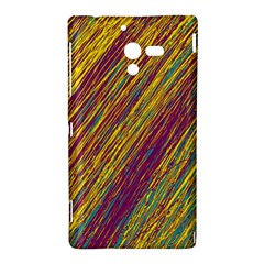 Yellow, purple and green Van Gogh pattern Sony Xperia ZL (L35H)