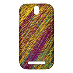 Yellow, purple and green Van Gogh pattern HTC One SV Hardshell Case