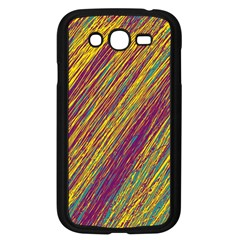 Yellow, purple and green Van Gogh pattern Samsung Galaxy Grand DUOS I9082 Case (Black)