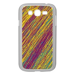 Yellow, purple and green Van Gogh pattern Samsung Galaxy Grand DUOS I9082 Case (White)