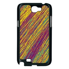 Yellow, purple and green Van Gogh pattern Samsung Galaxy Note 2 Case (Black)